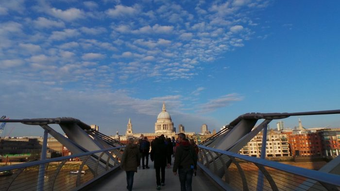 La Cattedrale di St. Paul vista dal Millenium Bridge